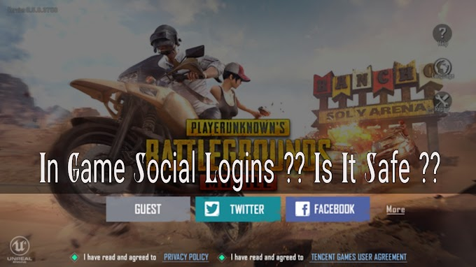 In Game Social Logins, And It's Security