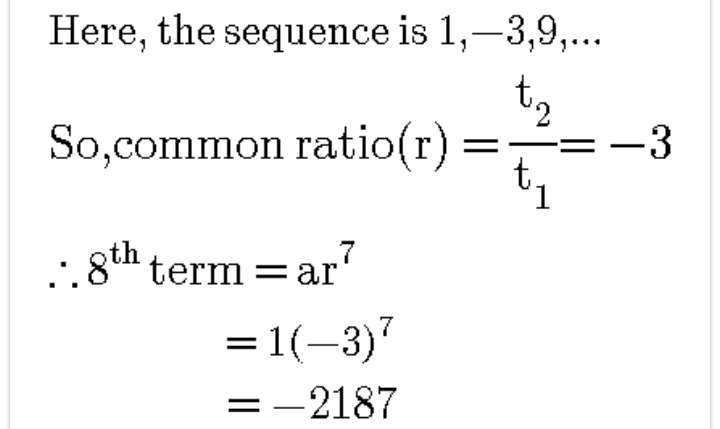 Series and sequence