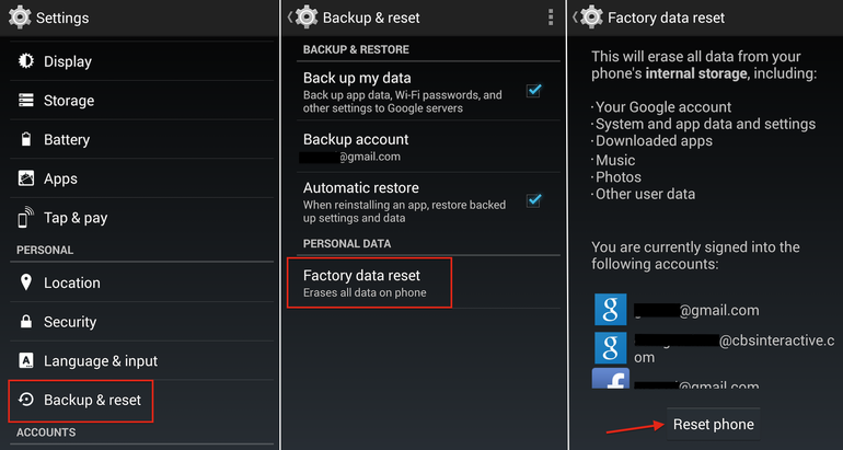 Hard Reset LG Optimus LTE 3 F260S using menu