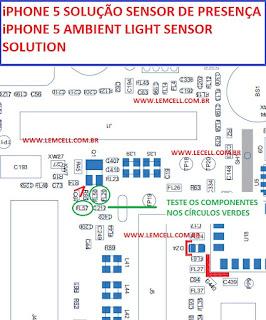 Solução iPhone 5 Sensor de Proximidade não Funciona iPhone 5 Ambient Light Sensor Solution