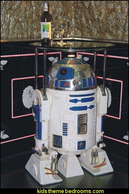 R2-D2 Fiberglass Life Size Server Statue Star Wars Prop
