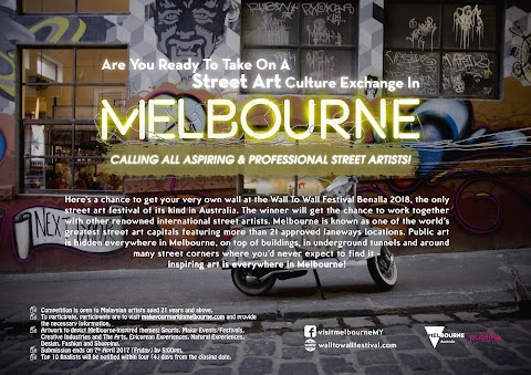 "MELBOURNE – MALAYSIA STREET ART EXCHANGE ""Visit Victoria and Publika Shopping Gallery Street Art Competition in Malaysia"""