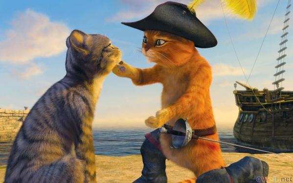 Puss kneeling in Puss in Boots 2011 animatedfilmreviews.filminspector.com