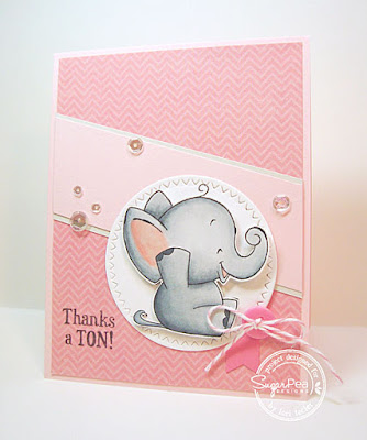 Thanks a Ton card-designed by Lori Tecler/Inking Aloud-stamps and dies from SugarPea Designs