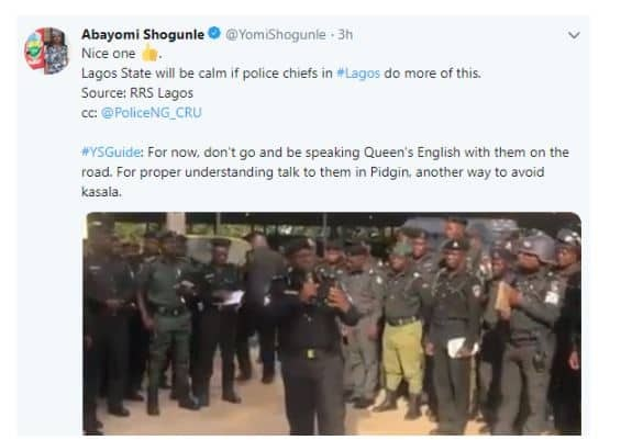 Police official advises against speaking 'Queen's English' to officers