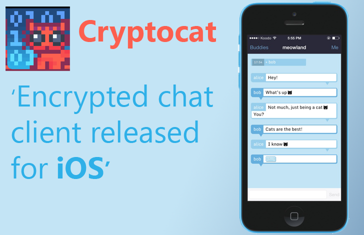 Encrypted Chat Service 'Cryptocat' released iOS app