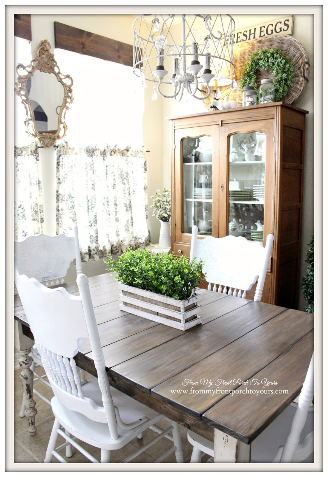from my front porch to yours updated french farmhouse breakfast nook. Black Bedroom Furniture Sets. Home Design Ideas