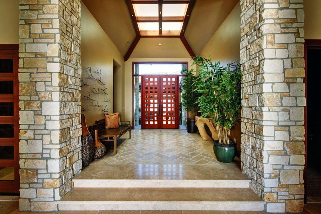Model Batu Alam untuk Tiang Teras Rumah