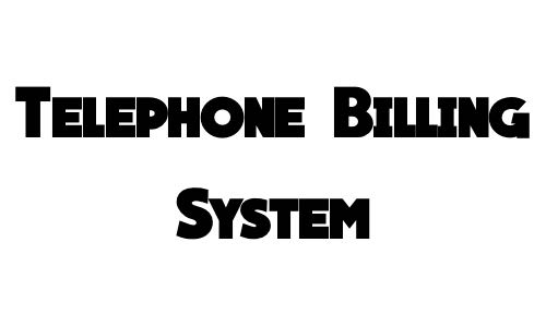 Telephone Billing System in C Language