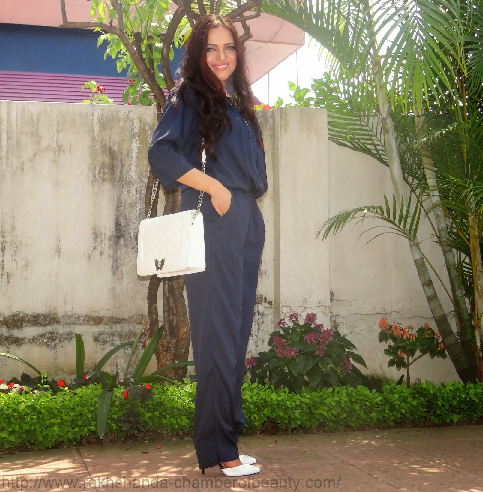 Navy Jumpsuit from Limroad.com -OOTD
