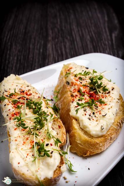 Kartoffelkäse auf fluffigem Kartoffelbrot