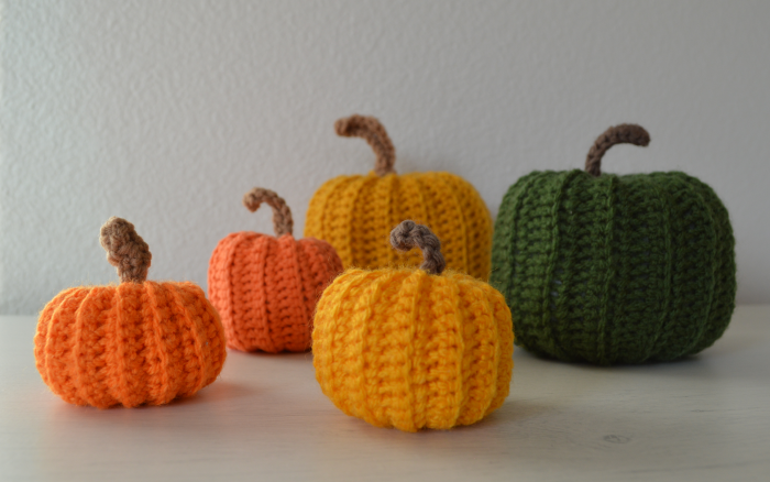 Decoración de otoño, auyamas o calabazas en crochet.