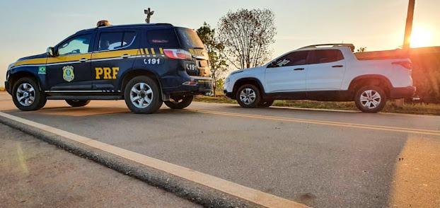 Agora Guajará: PRF recupera caminhonete roubada menos de 7 horas após o crime