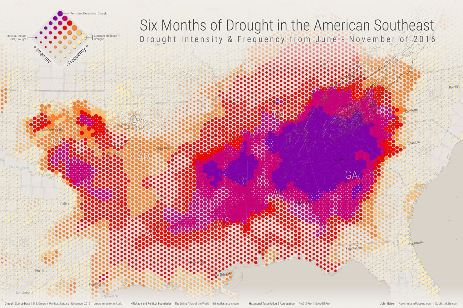 6 months of drought in the Amercan Southeast