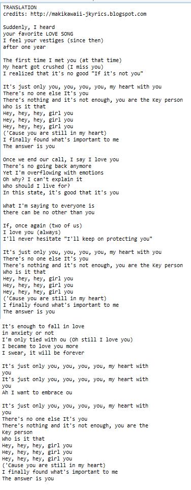 Random Jpop and Kpop Lyrics + Translations : February 2016