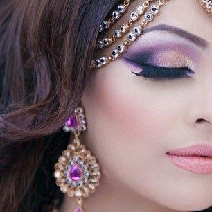 #3 Jewel Toned Shimmery Traditional Eye Makeup look