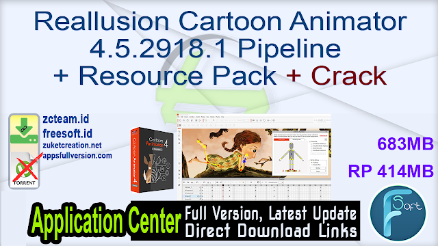 Reallusion Cartoon Animator 4.5.2918.1 Pipeline + Resource Pack + Crack_ ZcTeam.id