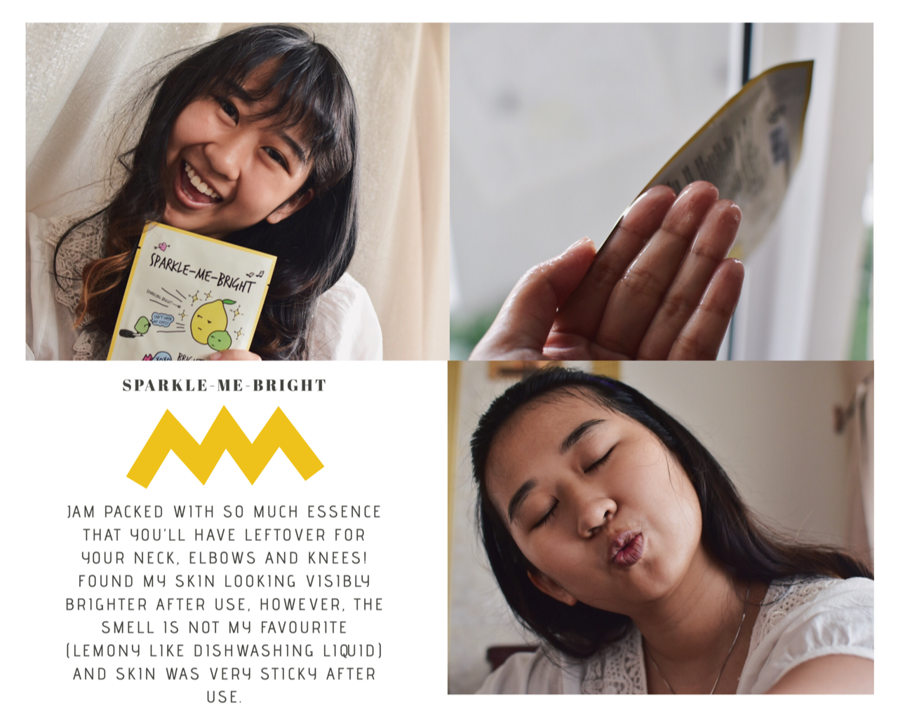brightening sheet mask sparkle-me bright althea korea