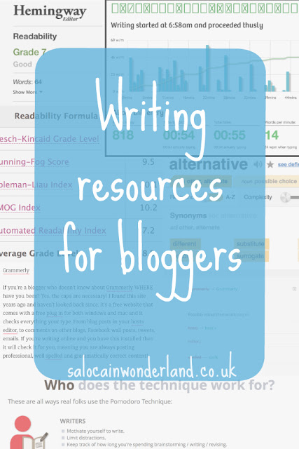 writing resources for bloggers