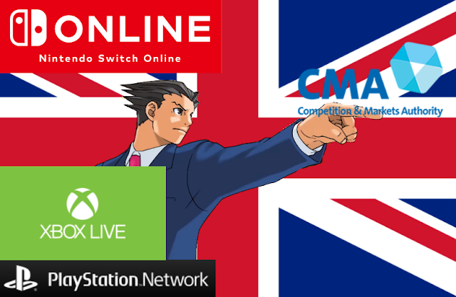 Competition & Markets Authority United Kingdom vs. Phoenix Wright Nintendo Switch Online Xbox Live PlayStation Network