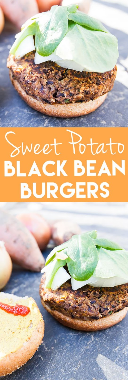 BLACK BEAN AND SWEET POTATO BURGER