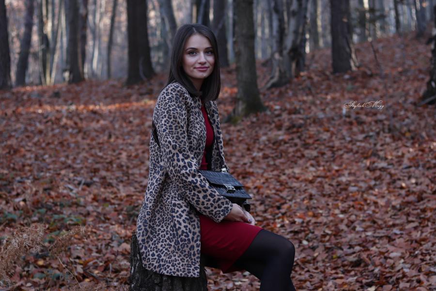 Autumn vibes - płaszcz w panterkę