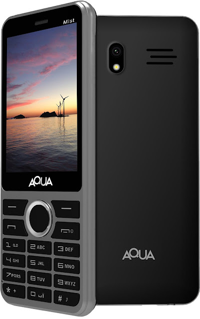 Aqua Mist 2100 mAh Battery Dual SIM Basic Mobile Phone
