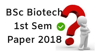 Mdu BSc (Biotech) 1st Sem Question Papers 2018