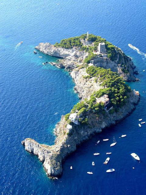 Nằm ở gần bờ biển Amalfi ở miền nam Italy (nước Ý), đảo Sirenuse có hình dạng như 1 chú cá heo. Nhờ có hình thù độc đáo mà đảo đã trở thành 1 điểm du lịch nổi tiếng của nước Ý, thu hút hàng triệu du khách ghé thăm mỗi năm.