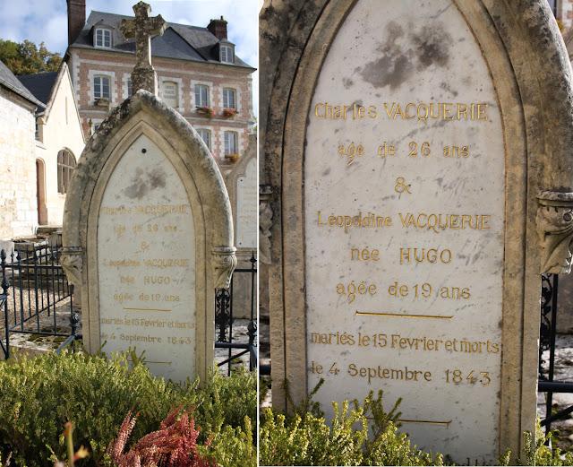 Tombe de Léopoldine Hugo et Charles Vacquerie