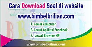 Tutorial Cara Download Soal di Website Bimbel Brilian Dengan Lengkap