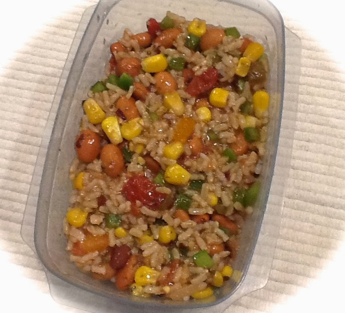Daniel Fast Whole Wheat Pasta Recipes: Pink-Vegan: Pinto Beans Salsa Corn And Rice (DF, GF