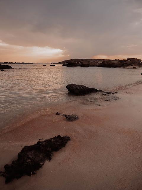 Crete island red sand beach