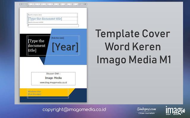 Template Cover Word Keren Imago Media M1