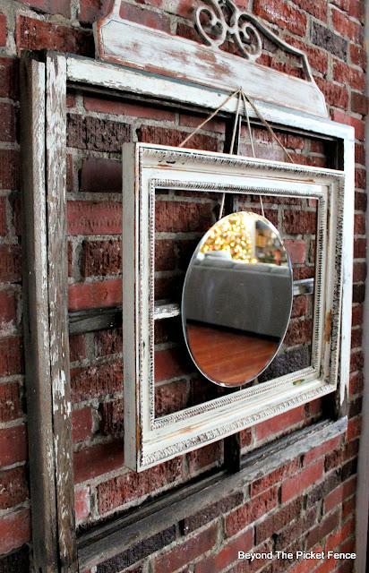 Layered Architectural Salvage Mirror