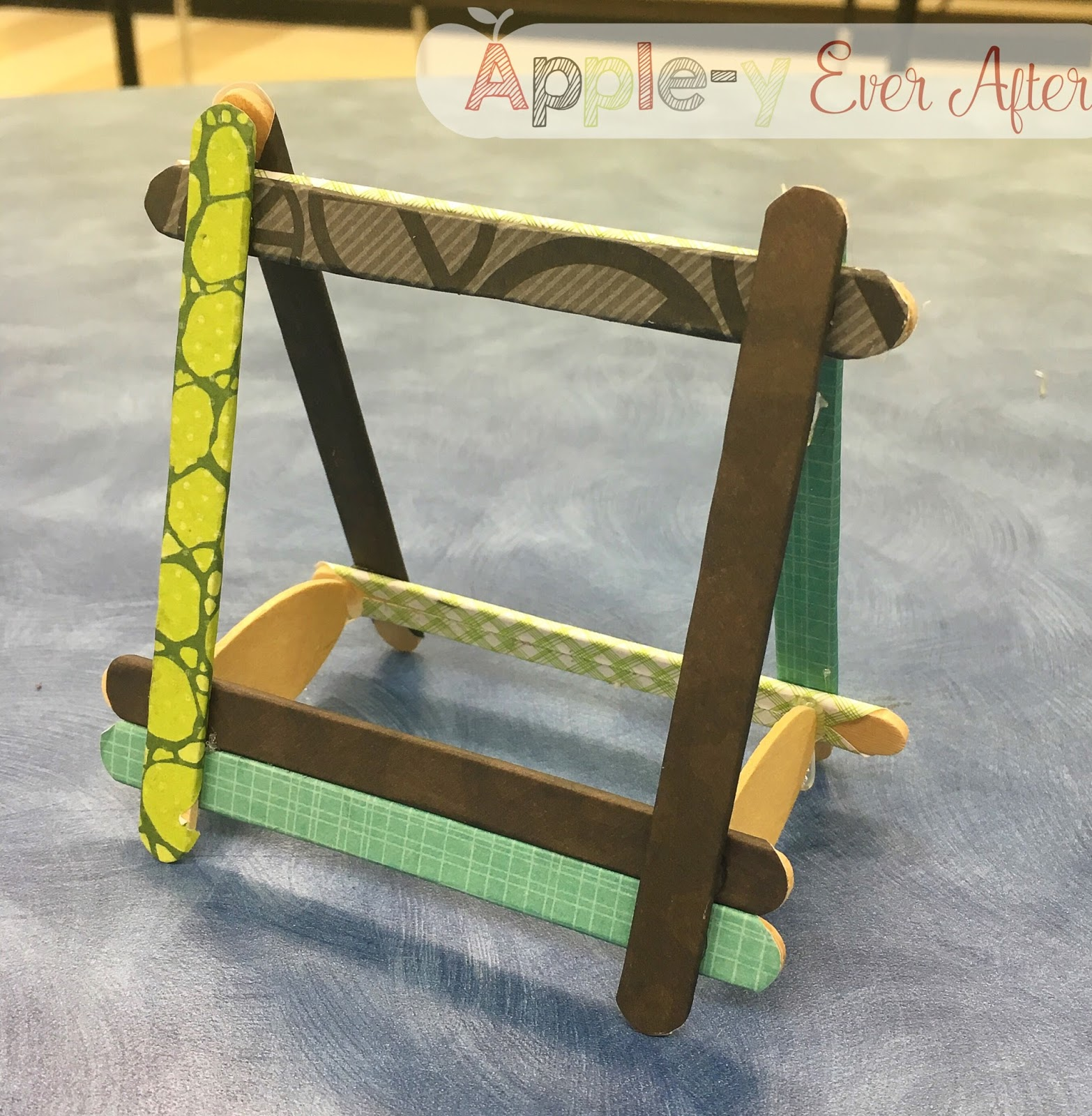More Father\'s Day Fun! A Popsicle Stick Frame! - Apple-y Ever After!