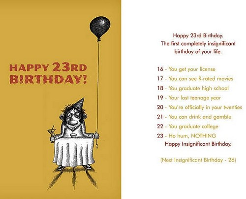 23rd Birthday Quote