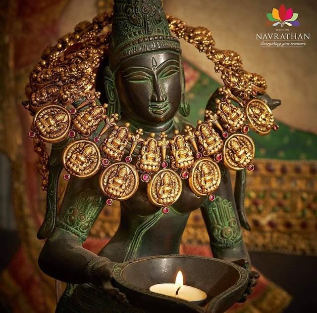 Nakash Lakshmi Necklace by Navrathan