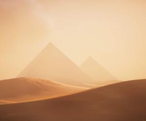 Pirámides De Giza Con Dunas De Arena En Egipto