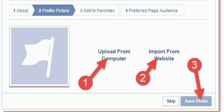 choose profile photo for fb page