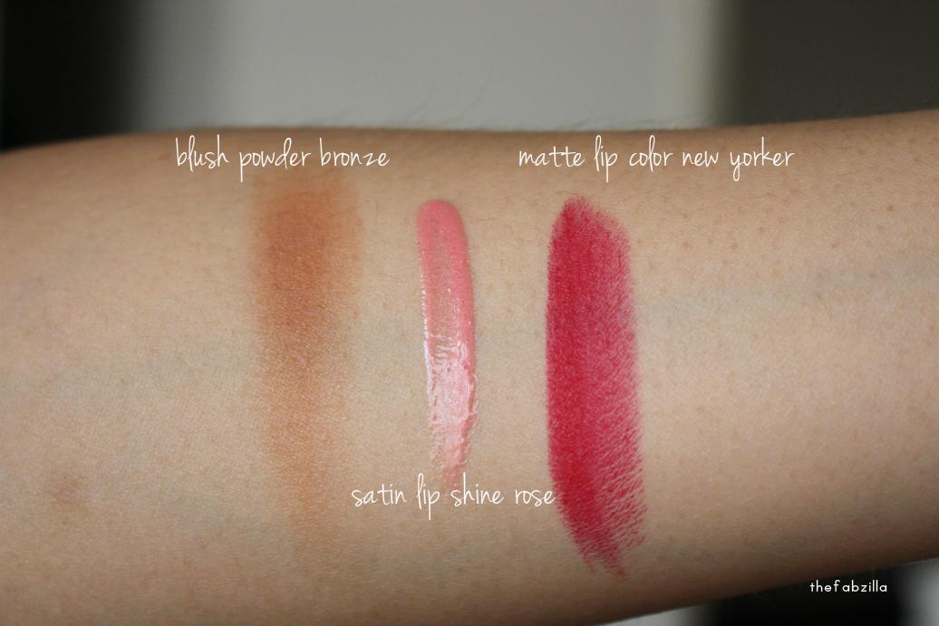 true isaac mizrahi, powder blush bronze, insanely gorgeous mascara, matte lip color, satin lip shine, valentine's day makeup