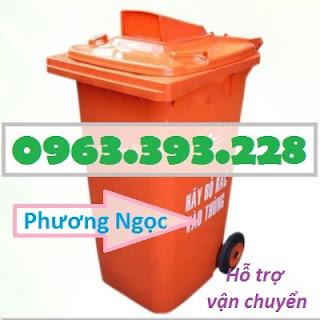 Thùng rác nhựa 240L nắp hở, thùng rác 240 Lít nhựa HDPE, thùng rác nắp hở TRNH240L5