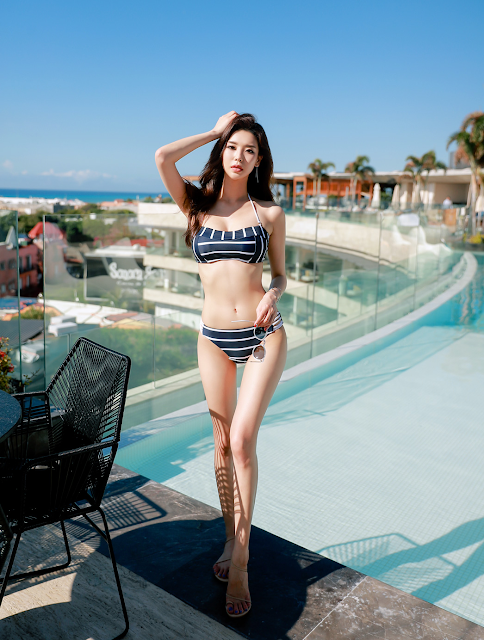 Park Da Hyun - Beachwear Set  - very cute asian girl - girlcute4u.blogspot.com (5)