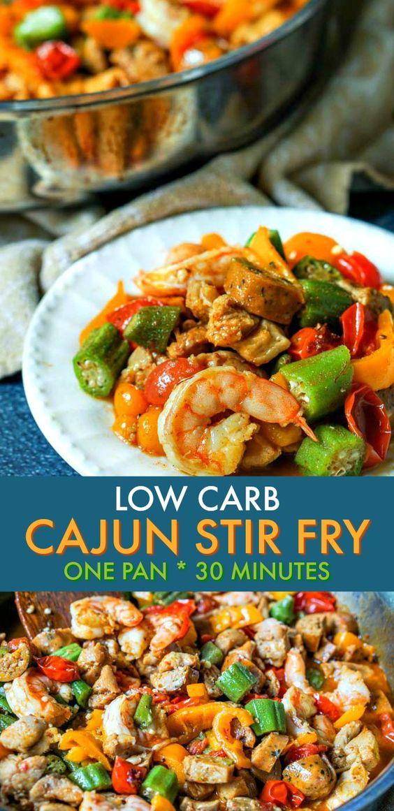 Low Carb Cajun Stir Fry Dinner