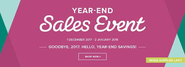 Take a look at the Year End Sales Event by Stampin' Up! Grab yourself a bargain whilst stocks last. Ends 2nd January 2017.