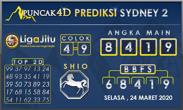 PREDIKSI TOGEL SYDNEY2 PUNCAK4D 24 MARET 2020