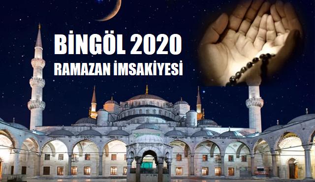 Bingöl 2020 Ramazan İmsakiyesi, İftar ve İmsak Saatleri