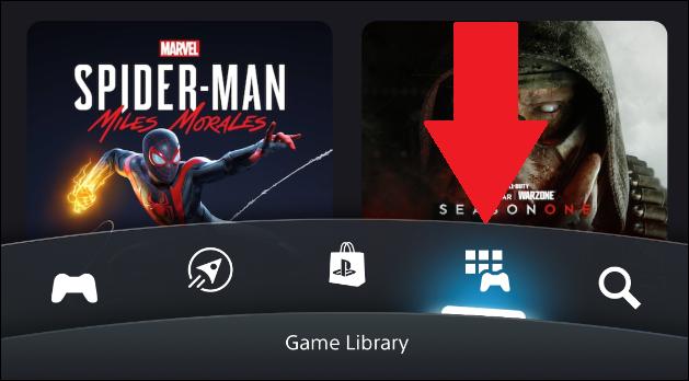 مكتبة تطبيقات PlayStation في تطبيق الهاتف المحمول