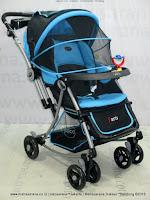 Pliko PK399 Paris with Parent Tray Baby Stroller-Forward & Rear Facing Light Blue