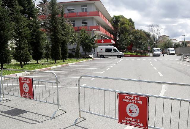 Il secondo giorno senza nuovi pazienti COVID-19 ricoverati all'ospedale per malattie infettive di Tirana